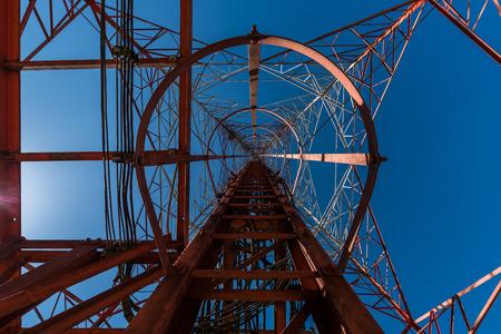 service ladder at telecommunication tower Banco de Imagens