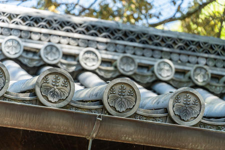 Traditional Japanese roof pattern Stock Photo