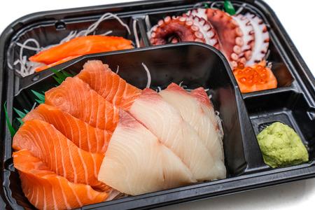 salmon sashimi bento set