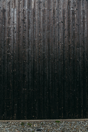 black textured wood wall