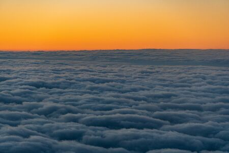 aerial of cloud in the evening Stock Photo
