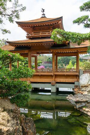 Beautiful pavilion at Nan Lian garden, Hong Kong Stock Photo