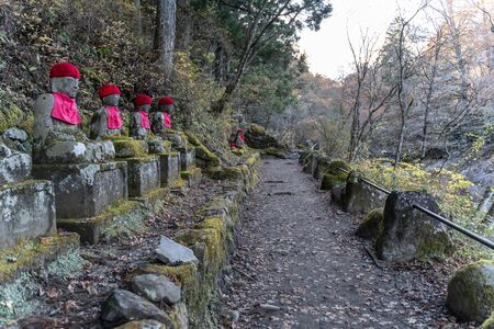 Stone statue at Kanmangafuchi abyss, Nikko, Japan
