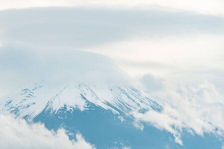 mount fuji close up with cloud