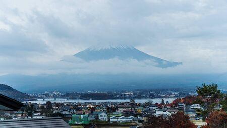 Fujisan in the mist