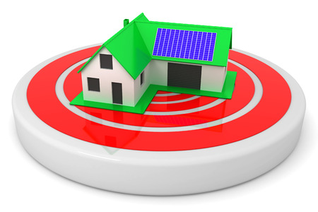 Little green house target concept
