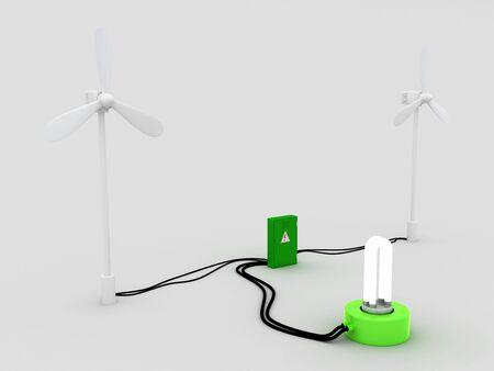 regenerating: 2 wind turbine and stun gun. and electric bulb