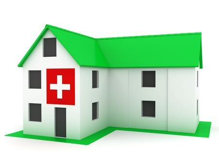 Ecologically pure hospital green house Stock Photo