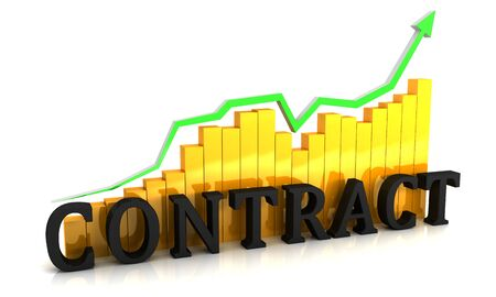 The schedule of increase in contracts. 3D render