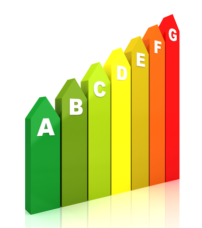 low scale: 3d Energy efficiency rating chart vertical