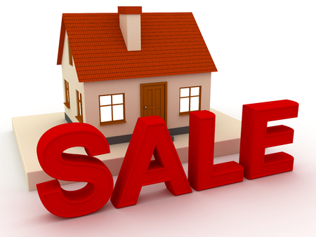 3d Little house with red roof for sale