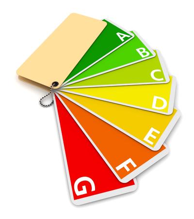 Detailed schedule of energy efficiency. 3d image renderer