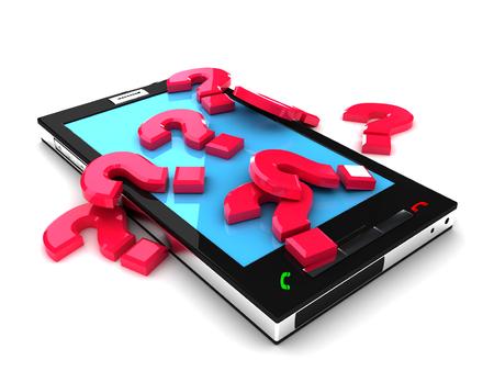 Smartphone mobile support concept. 3d image renderer