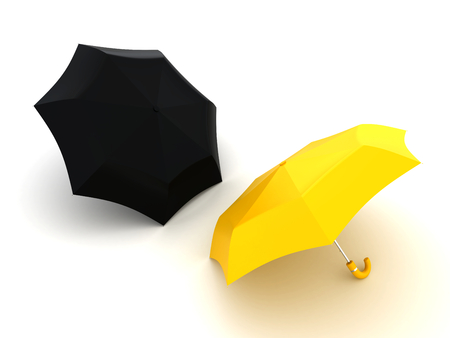 Umbrella for protection - conceptual image. 3d image renderer