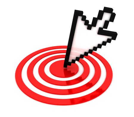 Mouse cursor on target. 3d image renderer