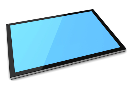 Tablet pc, computer screen isolated on white. 3d image renderer Stock Photo
