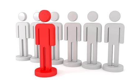 Leader is a businessman. 3d image renderer