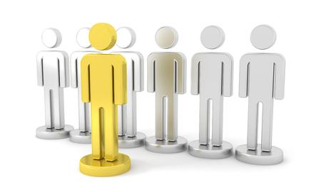 Gold Leader - Business. Conceptual image. 3d image renderer Stok Fotoğraf