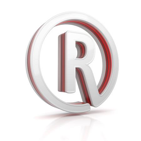 Trademark web icon - conceptual image. 3d image renderer