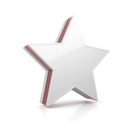 Star web icon - conceptual image. 3d image renderer Stock Photo