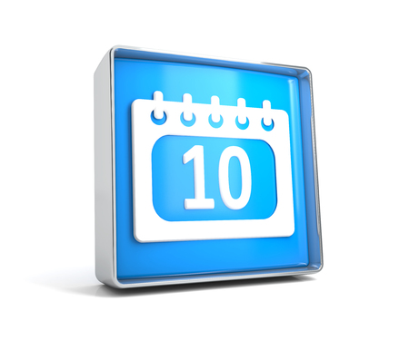 Calendar - web button isolated on white background. 3d image renderer