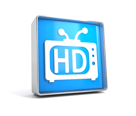TV - web button isolated on white background. 3d image renderer