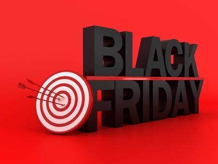 Black Friday and target concept