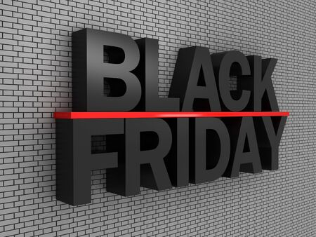 Black friday against wall background Banco de Imagens