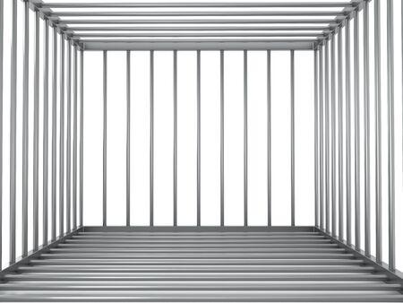 Empty metal cage
