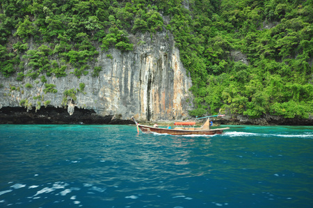 aonang: Island in Thailand (Krabi) has clean beaches, clear waters and beautiful stone. Stock Photo
