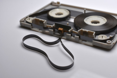 Close-up of cassette. When removing the fame cassette, you will find the details. (Shallow DOF) Stock Photo