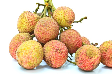 Lychee isolated on white background photo