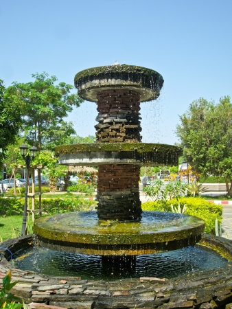 Fountain in Park on holiday in Thailand photo