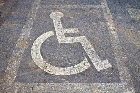More Handicapped street in park photo