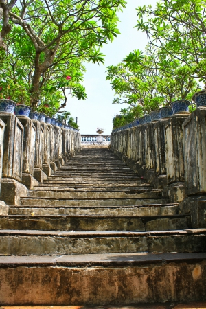Stairway, walking in the park, Thailand photo