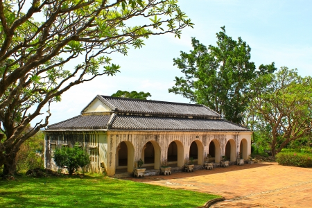 The Khao wung palace at petchburi province,Thailand Stock Photo