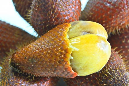 Zalacca or salak fruit, Traditional seasonal Sweet fruit flavors of Thailand Stock Photo