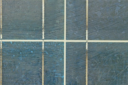 Closeup of old solar panel photo