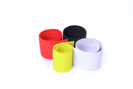 silicone: Silicone rubber colorful for lure fishing on white background