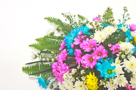 beautiful bouquet of bright flowers, colorful flora photo