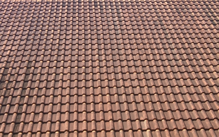old tiles roof pattern background Stock Photo