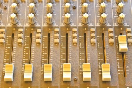 electronic balance: sound studio adjusting record equipment