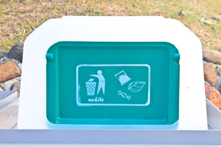 segregate: Close up Recycle bins in the national park