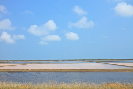Salt fields,  saline in Samutsakorn, thailand photo