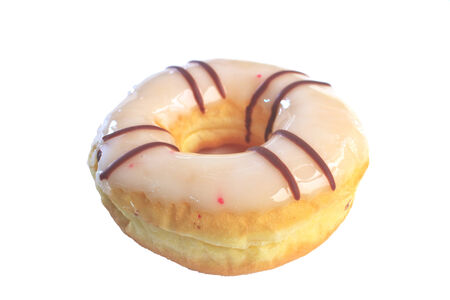 everybody: Colorful donut on white , dessert for everybody