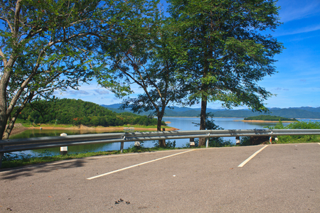 multi story car park: car parking on Kaeng Krachan Dam