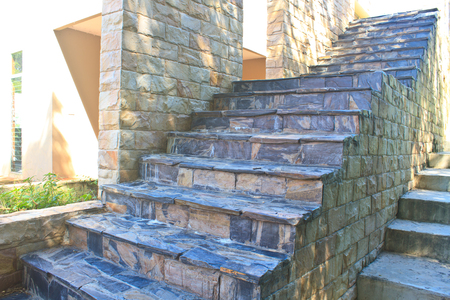 exterior brick stairs modern stairs leading to an office building stock photo picture