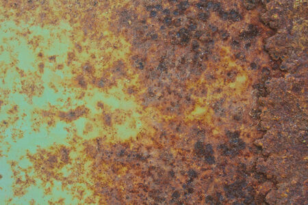 rust on metal surface making an abstract texture photo