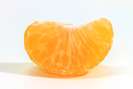 fresh fruit orange isolated on white background photo