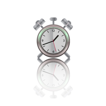 alarm clock  illustration with shadow Vector